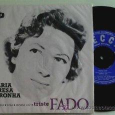 Discos de vinilo: MARIA TERESA DE NORONHA -EP- TRISTE FADO + 3 OR PORTUGAL 60'S. Lote 53587617