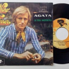 Discos de vinilo: NINO FERRER * AGATA * LA RUA MEDUREIRA * SINGLE MOVIEPLAY 1969. Lote 53589093