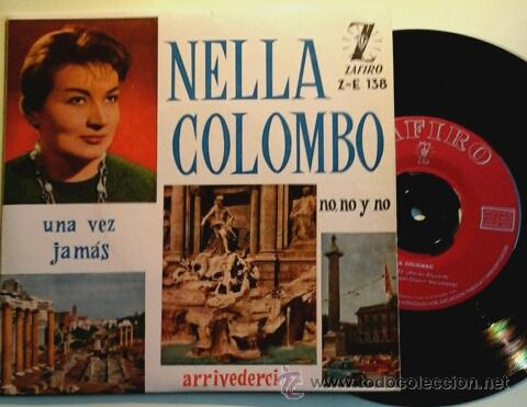 NELLA COLOMBO -EP- UNA VEZ + 3 RARE SPAIN 60'S (Música - Discos de Vinilo - EPs - Canción Francesa e Italiana)