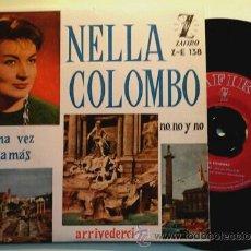 Discos de vinilo: NELLA COLOMBO -EP- UNA VEZ + 3 RARE SPAIN 60'S. Lote 53593350