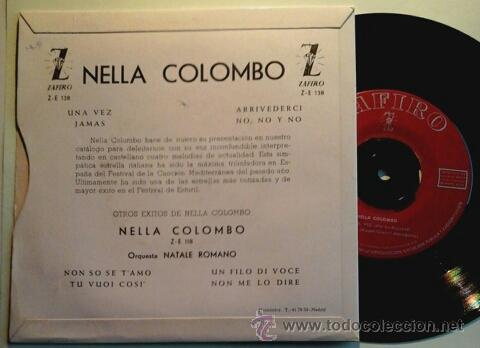 Discos de vinilo: NELLA COLOMBO -EP- UNA VEZ + 3 RARE SPAIN 60'S - Foto 2 - 53593350