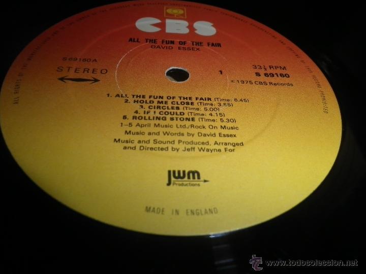 Discos de vinilo: DAVID ESSEX - ALL THE FUN OF THE FAIR LP - ORIGINAL INGLES - CBS RECORDS 1975 GATEFOLD COVER - - Foto 15 - 53599397