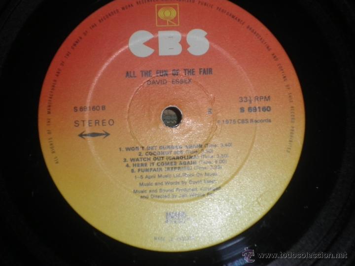 Discos de vinilo: DAVID ESSEX - ALL THE FUN OF THE FAIR LP - ORIGINAL INGLES - CBS RECORDS 1975 GATEFOLD COVER - - Foto 18 - 53599397