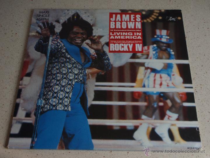 JAMES BROWN ''ROCKY IV'' ( LIVING IN AMERICA 3 VERSIONES ) 1985 - HOLANDA MAXI45 SCOTTI BROT (Música - Discos de Vinilo - Maxi Singles - Disco y Dance)