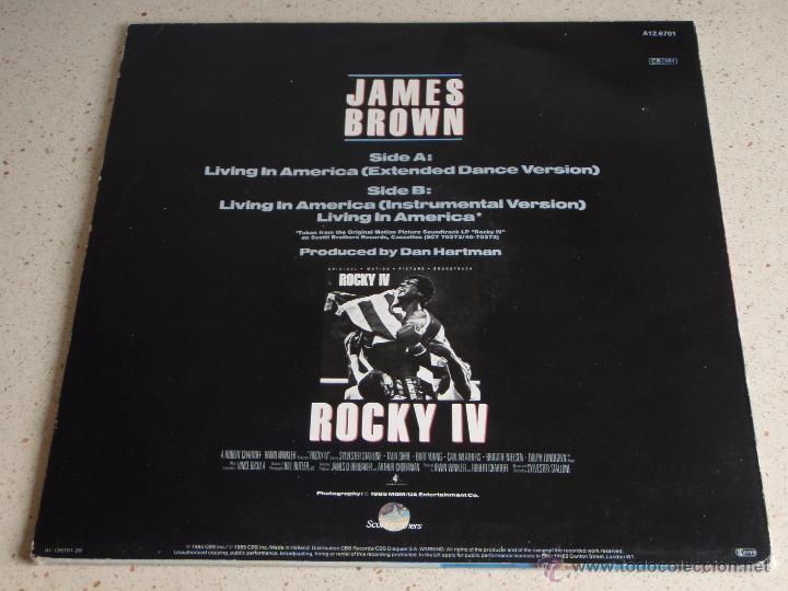 Discos de vinilo: JAMES BROWN ''ROCKY IV'' ( LIVING IN AMERICA 3 VERSIONES ) 1985 - HOLANDA MAXI45 SCOTTI BROT - Foto 2 - 53599691