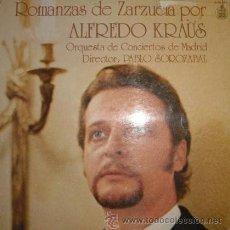 Discos de vinilo: ROMANZAS DE ZARZUELA POR ALFREDO KRAUS (LP DE 1979). Lote 53615142