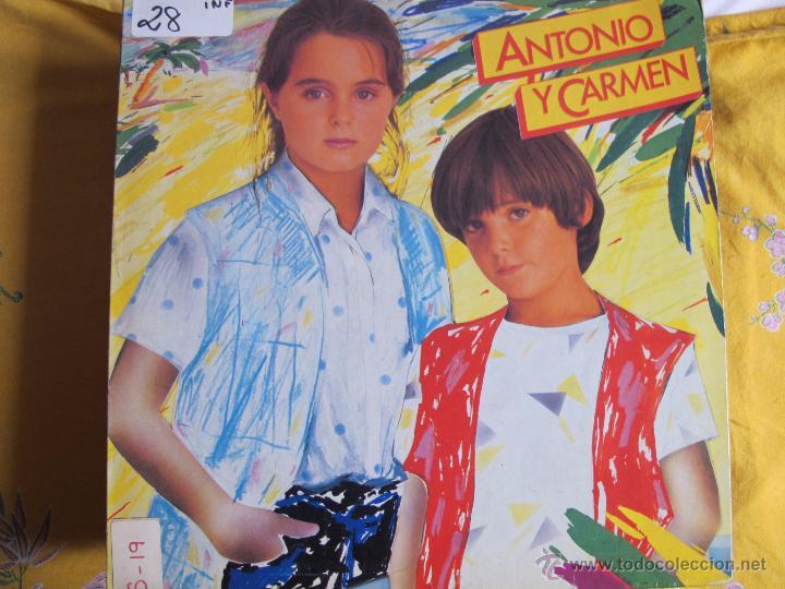 LP - ANTONIO Y CARMEN - MISMO TITULO (PROMO ESPAÑOL, WEA RECORDS 1982, PORTADA DOBLE) (Música - Discos - LPs Vinilo - Música Infantil)