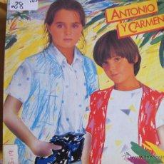 Discos de vinilo: LP - ANTONIO Y CARMEN - MISMO TITULO (PROMO ESPAÑOL, WEA RECORDS 1982, PORTADA DOBLE). Lote 53618281