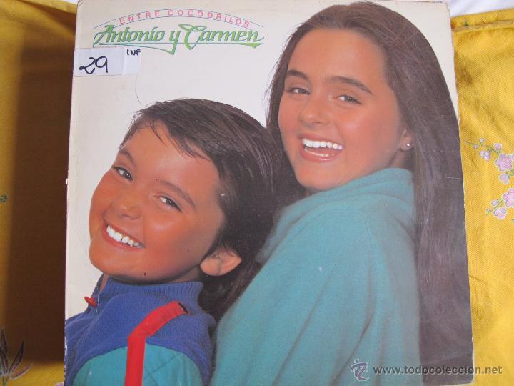 LP - ANTONIO Y CARMEN - ENTRE COCODRILOS (PROMOCIONAL ESPAÑOL, WEA RECORDS 1983) (Música - Discos - LPs Vinilo - Música Infantil)