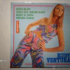 Discos de vinilo: RUDY VENTURA - MEXICO MELODY + 3. Lote 53618343