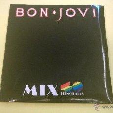 Discos de vinil: BON JOVI.MIX 40 PRINCIPALES.RUNAWAY.SINGLE DOBLE.ESPAÑA 1987.POLYGRAM.. Lote 53620438
