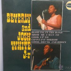 Discos de vinilo: BEVERLY AND JOSH WHITE JR.- BLOWING IN THE WIND +3- UK EP 1964- BOB DYLAN- EXCELENTE ESTADO.. Lote 53631290