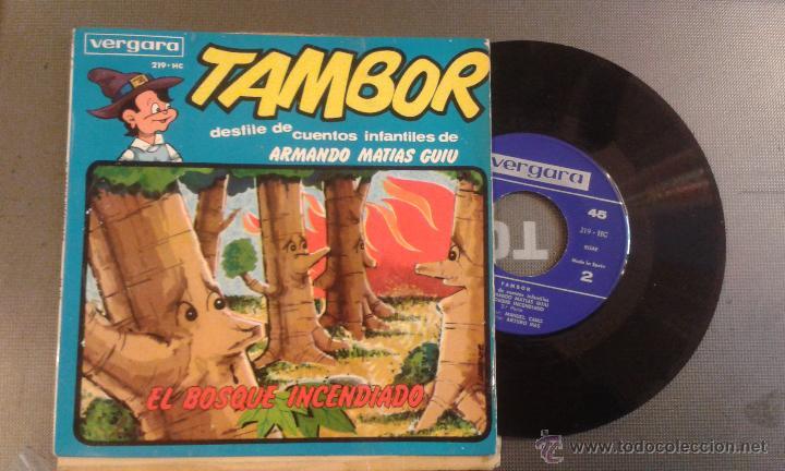TAMBOR DESFILE DE CUENTOS INFANTILES DE ARMANDO MATIAS GUIU -EL BOSQUE INCENDIADO (Música - Discos - Singles Vinilo - Música Infantil)