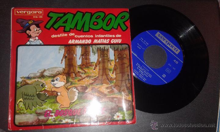 TAMBOR DESFILE DE CUENTOS INFANTILES DE ARMANDO MATIAS GUIU - EL BOSQUE TRISTE (Música - Discos - Singles Vinilo - Música Infantil)