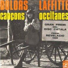 Discos de vinilo: EP DOLORS LAFFITTE : CANÇONS OCCITANES ( CONTIENE INSERTO Y DEDICATORIA DE DOLORS A NURIA ). Lote 53636422