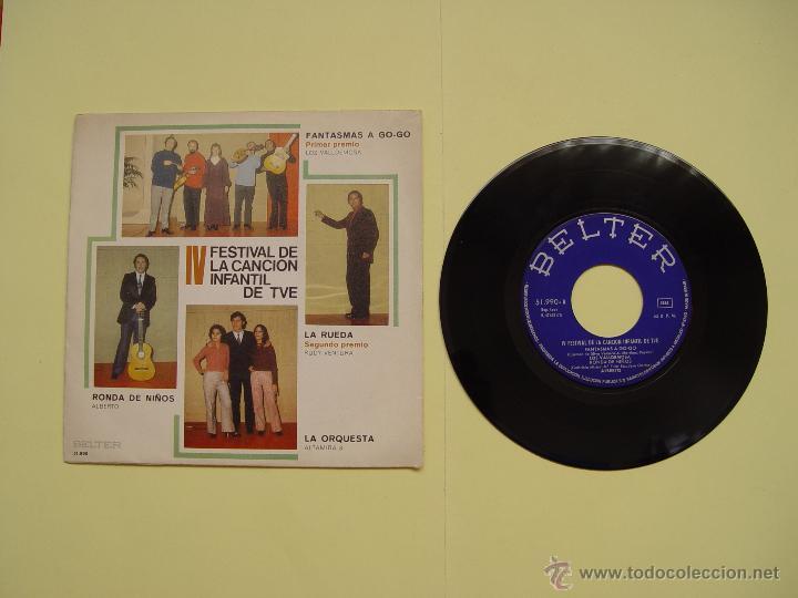 RUDY VENTURA (IV FESTIVAL CANCIÓN INFANTIL TVE) BELTER, 1970 (VINILO SINGLE) ¡COLECCIONISTA ORIGINAL (Música - Discos - Singles Vinilo - Otros Festivales de la Canción)