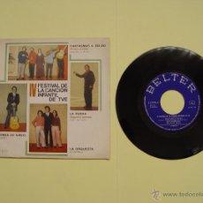 Discos de vinilo: RUDY VENTURA (IV FESTIVAL CANCIÓN INFANTIL TVE) BELTER, 1970 (VINILO SINGLE) ¡COLECCIONISTA ORIGINAL. Lote 53637208
