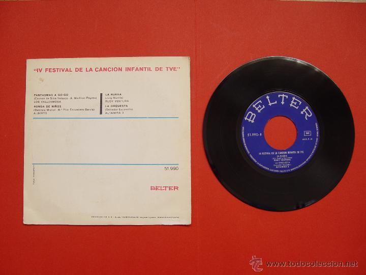 Discos de vinilo: RUDY VENTURA (IV Festival canción infantil TVE) Belter, 1970 (Vinilo Single) ¡Coleccionista Original - Foto 2 - 53637208