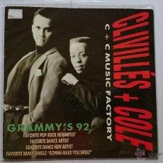 Disques de vinyle: C + C MUSIC FACTORY (CRIVILLES + COLE) - A DEEPER LOVE (PROMO 1992). Lote 53637472