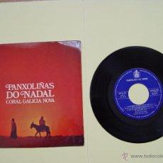 Discos de vinilo: CORAL GALICIA NOVA (PANXOLIÑAS DO NADAL) HISPAVOX, 1971 (VINILO SINGLE) ¡COLECCIONISTA! ORIGINAL. Lote 53637815