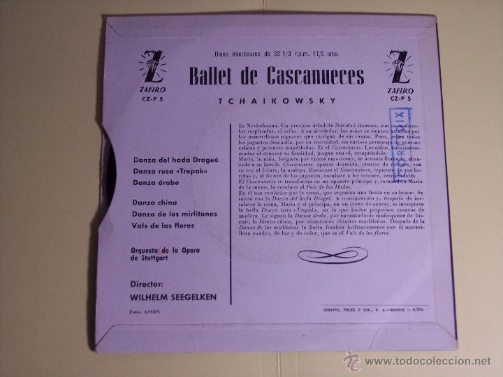 Discos de vinilo: EP BALLET DE CASCANUECES (TCHAIKOWSKY) ZAFIRO-1959 - Foto 3 - 53639813