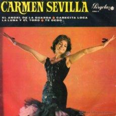 Discos de vinilo: CARMEN SEVILLA, EP, EL ANGEL DE LA GUARDA + 3, AÑO 1966. Lote 53641573
