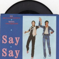 Discos de vinilo: PAUL MCCARTNEY & MICHAEL JACKSON - SAY SAY SAY + INEDITO 83 !! RARO MAXI ( 3 TEMAS ) ORG EDIT USA,EX. Lote 53643889