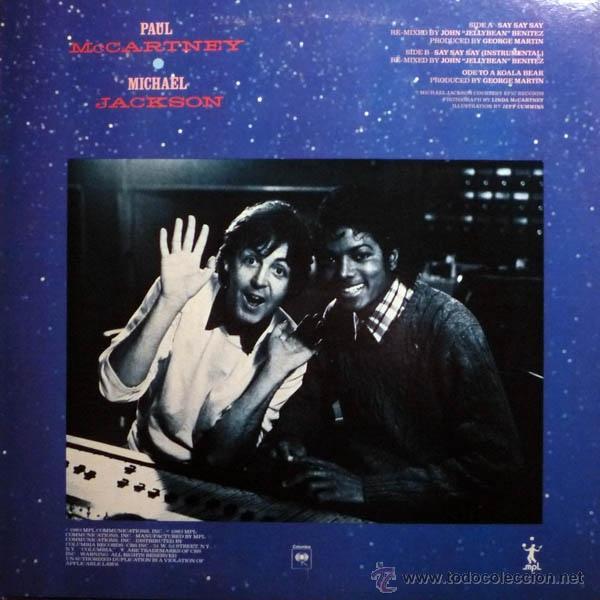 Discos de vinilo: paul mccartney & michael jackson - say say say + inedito 83 !! raro maxi ( 3 TEMAS ) org edit usa,EX - Foto 2 - 53643889