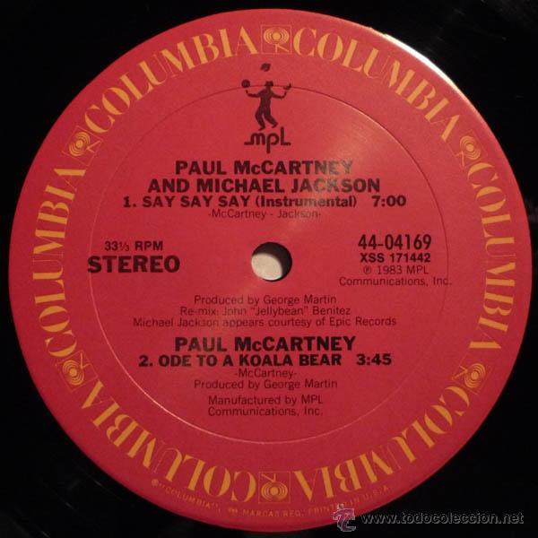 Discos de vinilo: paul mccartney & michael jackson - say say say + inedito 83 !! raro maxi ( 3 TEMAS ) org edit usa,EX - Foto 4 - 53643889