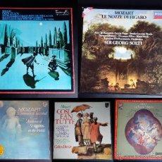 Discos de vinilo: MOZART: COLECCIÓN BOX ÓPERAS Y SINFONÍAS: 22 DISCOS TOTAL. Lote 53644911
