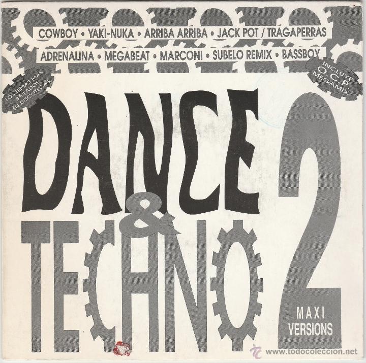 DANCE & TECHNO 2 - MEGAMIX VERSION (SINGLE PROMOCIONAL B.U.S. 1 CARA 1993) (Música - Discos - Singles Vinilo - Techno, Trance y House)