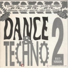 Discos de vinilo: DANCE & TECHNO 2 - MEGAMIX VERSION (SINGLE PROMOCIONAL B.U.S. 1 CARA 1993). Lote 53645861