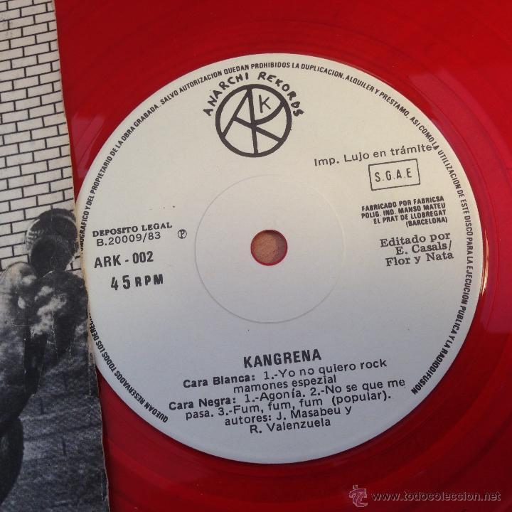 Discos de vinilo: KANGRENA (TERRORISMO SONORO) SINGLE ESPAÑA 1983 PUNK (EPI19) - Foto 2 - 53650821