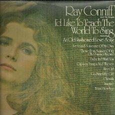 Discos de vinilo: RAY CONNIFF LP SELLO CBS AÑO1972 EDITADO EN ESPAÑA CON HOJA IMFORMATIVA. Lote 53651772