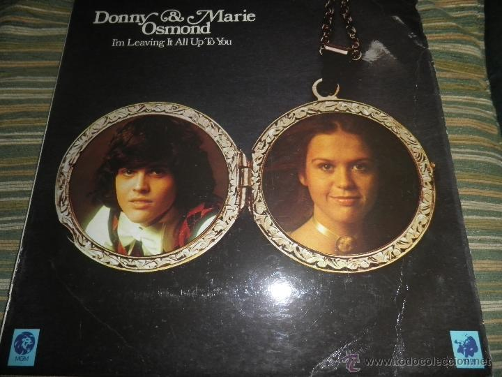 Discos de vinilo: DONNY & MARIE OSMOND - I´M LEAVING IT ALL UP TO YOU LP - ORIGINAL INGLES - MGM RECORDS 1974 - STEREO - Foto 15 - 53658661