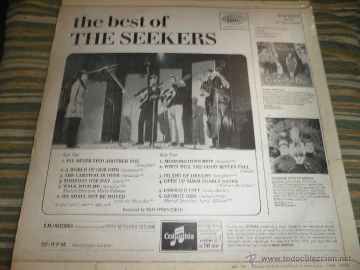 Discos de vinilo: THE SEEKERS - THE BEST OF THE SEEKERS LP - EDICION INGLESA -EMI / COLUMBIA RECORDS 1968 - STEREO - - Foto 2 - 53659519