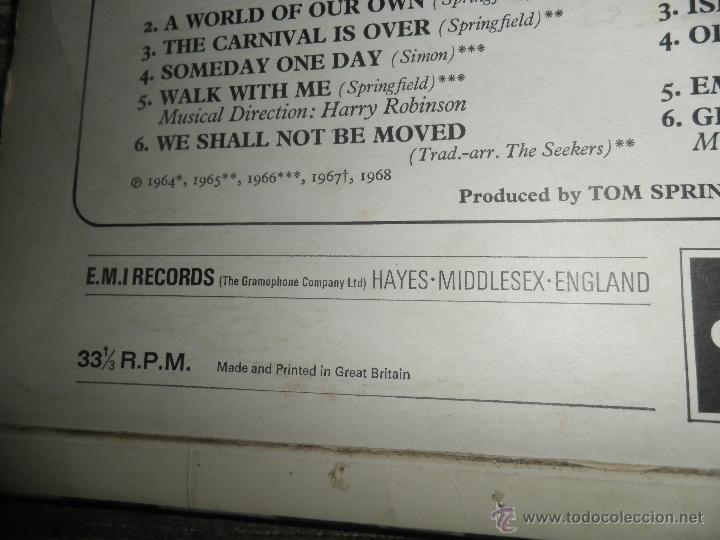 Discos de vinilo: THE SEEKERS - THE BEST OF THE SEEKERS LP - EDICION INGLESA -EMI / COLUMBIA RECORDS 1968 - STEREO - - Foto 4 - 53659519