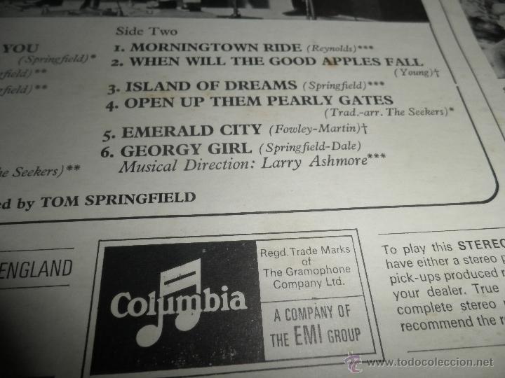 Discos de vinilo: THE SEEKERS - THE BEST OF THE SEEKERS LP - EDICION INGLESA -EMI / COLUMBIA RECORDS 1968 - STEREO - - Foto 5 - 53659519