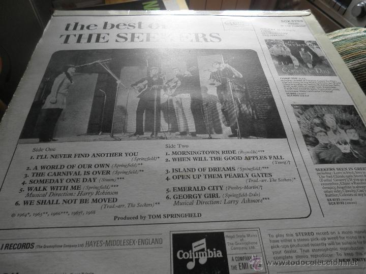 Discos de vinilo: THE SEEKERS - THE BEST OF THE SEEKERS LP - EDICION INGLESA -EMI / COLUMBIA RECORDS 1968 - STEREO - - Foto 9 - 53659519