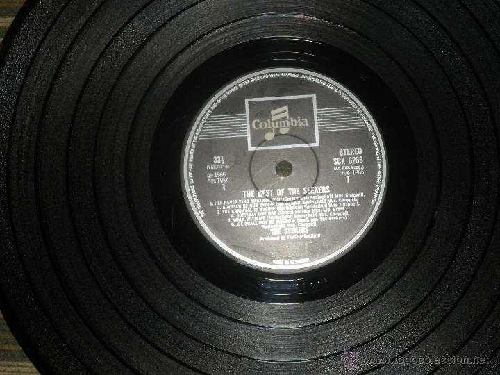 Discos de vinilo: THE SEEKERS - THE BEST OF THE SEEKERS LP - EDICION INGLESA -EMI / COLUMBIA RECORDS 1968 - STEREO - - Foto 12 - 53659519