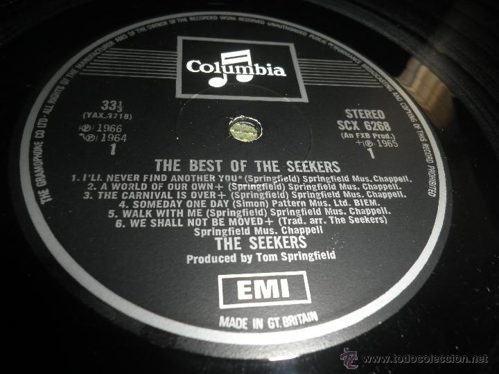 Discos de vinilo: THE SEEKERS - THE BEST OF THE SEEKERS LP - EDICION INGLESA -EMI / COLUMBIA RECORDS 1968 - STEREO - - Foto 13 - 53659519