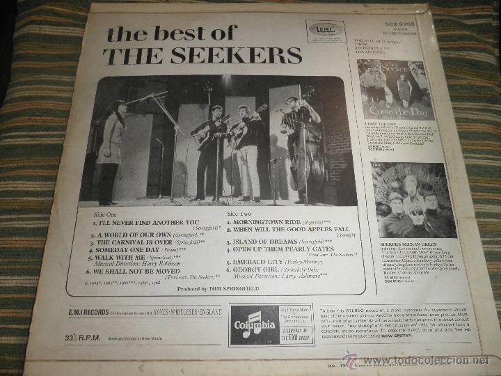 Discos de vinilo: THE SEEKERS - THE BEST OF THE SEEKERS LP - EDICION INGLESA -EMI / COLUMBIA RECORDS 1968 - STEREO - - Foto 18 - 53659519