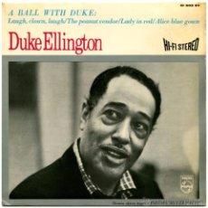 Discos de vinilo: DUKE ELLINGTON – A BALL WITH THE DUKE - EP SWEDEN - PHILIPS 61 502 SV. Lote 53663601
