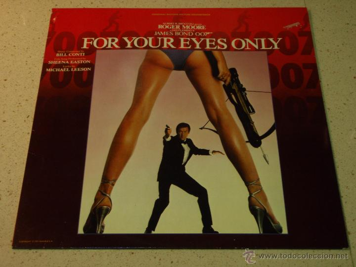 Discos de vinilo: FOR YOUR EYES ONLY JAMES BOND 007 ( VARIOS ) 1981 - HOLANDA LP33 LIBERTY - Foto 1 - 53665471