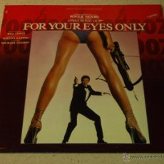 Discos de vinilo: ''FOR YOUR EYES ONLY'' JAMES BOND 007 ( VARIOS ) 1981 - HOLANDA LP33 LIBERTY. Lote 53665471
