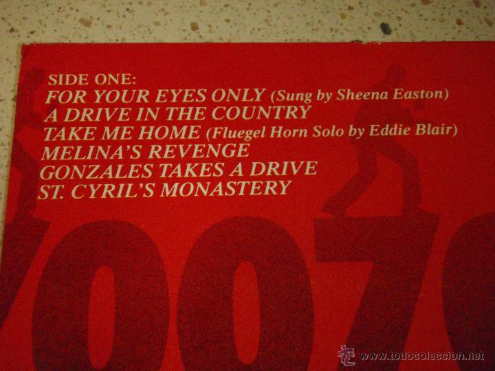 Discos de vinilo: FOR YOUR EYES ONLY JAMES BOND 007 ( VARIOS ) 1981 - HOLANDA LP33 LIBERTY - Foto 3 - 53665471