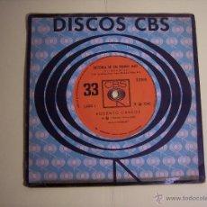 Discos de vinilo: SINGLE 33 RPM ROBERTO CARLOS (HISTORIA DE UM HOMEM MAU / AQUELE BEIJO QUE TE DEI) CBS-1966. Lote 53677036