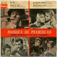 Discos de vinilo: EDDIE BARCLAY Y SU GRAN ORQUESTA - MÚSICA DE PELÍCULAS - EP SPAIN 1959 - BARCLAY BCGE 28124. Lote 53679397