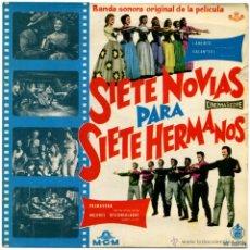 Discos de vinilo: ADOLPH DEUTSCH – SIETE NOVIAS PARA SIETE HERMANOS - EP SPAIN 1960 - MGM RECORDS HT 057-19. Lote 53679847