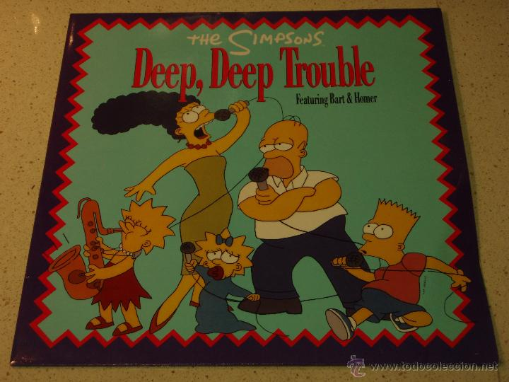 THE SIMPSONS ( DEEP, DEEP TROUBLE 2 VERSIONES - SPRINGFIELD SOUL STEW ) 1990-GERMANY MAXI45 (Música - Discos de Vinilo - Maxi Singles - Pop - Rock Extranjero de los 90 a la actualidad)